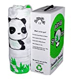100% Organic Muslin Swaddle Lovey Panda Blanket 47 by 47 inch, 1 Pack with ...